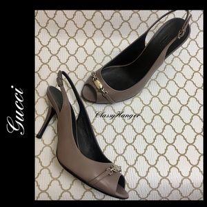 Gucci▪️Sling Back Lavender Heels 38.5